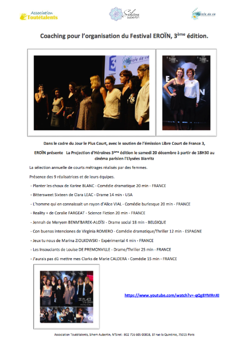 Coaching-Festival-Eroin-Association-Toutetalents-Artiste-de-vie-Sihem-Aubertin